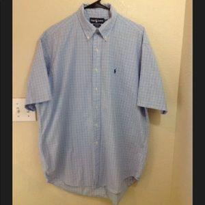 Ralph Lauren mens shirt button up Blake SZ Large